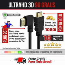 Cabo Hdmi 1.4 10 Metros Full Hd 1080i Lcd Ps3 Ps4 Xbox Tv 3d