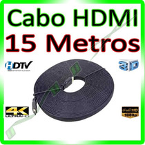 Cabo Hdmi 15m Blindado 1.4 Ethernet 15 Metros 4k Ultra Hd 3d