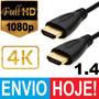 Cabo Hdmi 1.4 De 5m Fullhd 1080p Xbox Ps3 Macho V1.4 4k