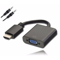 Cabo Conversor Adaptador Hdmi X Vga C/ Áudio Ps3 Xbox Tv Pc