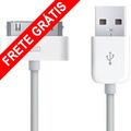 Cabo Dados Usb Iphone 3g 4 4s Ipad Ipod 1m Ios7 Frete Grátis