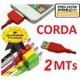 Cabo De Dados Carregador Usb Iphone 3 4 4s-corda De 2 Metros