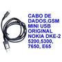Cabo De Dados Original Nokia E65 (dke-2)
