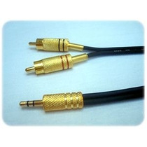 Cabo P2 + 2 Rca Gold 10mts Stereo
