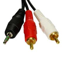 Cabo De Áudio P2 + 2 Rca Para Aparelhos De Som Mp3 Tv Mp4