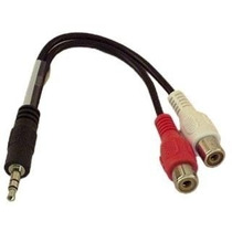 Cabo Adaptador P2 3.5mm Macho X 2 Rca Femea Audio Estereo