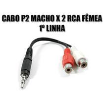 Cabo Adaptador P2 Macho 3,5mm X Rca Fêmea - 1º Linha