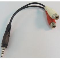 Cabo Adaptador P2 3.5mm Macho X 2 Rca Fêmea Áudio Estéreo