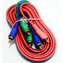 Cabo Audio E Video 3 Rca X 3 Rca Video Componente 5mt.