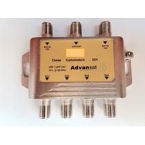 Chave Comutadora 3x4 Amplificada (substitui Lnb Triax )