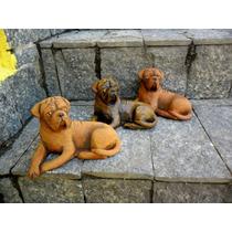 Esculturas De Dogue De Bordeoux Da Coleção André Parisi