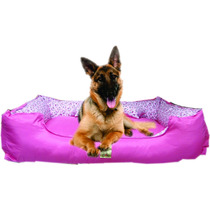 Cama Sofá Cachorro Grande Microfibra Bolitapet Pink/rosa