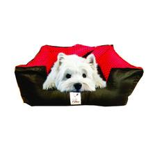 Cama Caminha Cachorro Gato Bolita Pet Microfibra Vermelha
