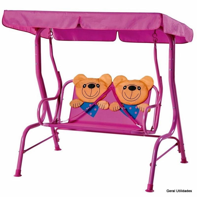 banco de jardim infantil:Cadeira De Balanço Infantil Banco Namoradeira Jardim Ursinho – R$ 299