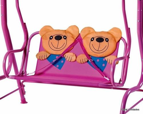 banco de jardim infantil : banco de jardim infantil:Cadeira De Balanço Infantil Banco Namoradeira Jardim Ursinho