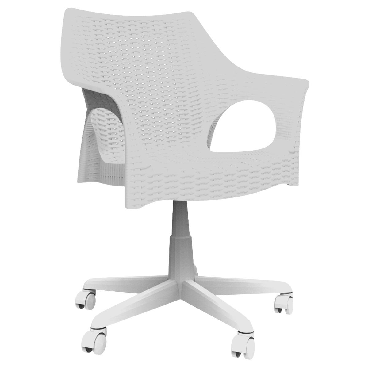 Cadeira Office Para Escritório Marfim De Rodízio Pé Giratóri R$  #434343 1200x1200