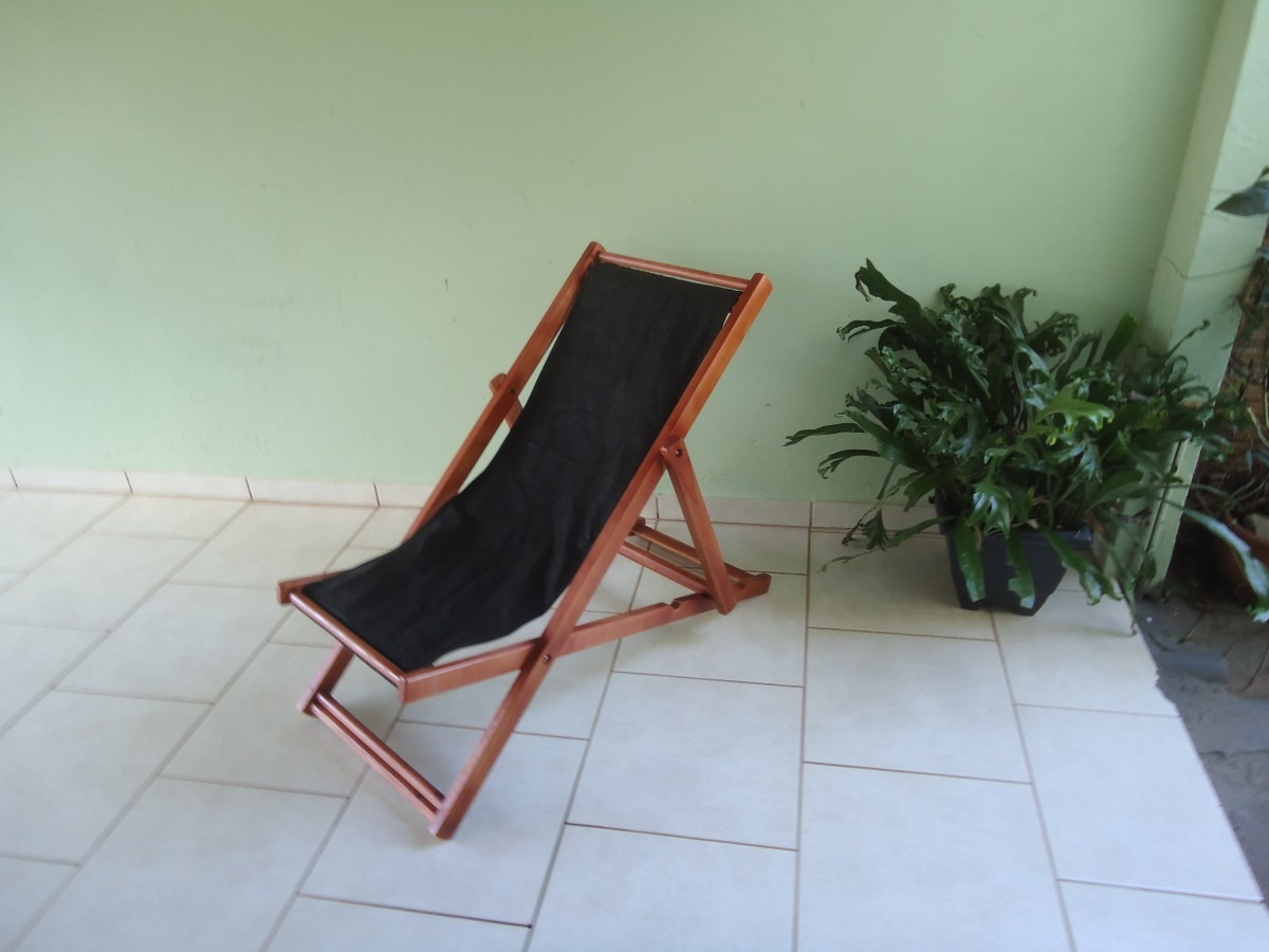 Cadeira Preguiçosa De Madeira Sem Braço R$ 140 00 no MercadoLivre #753F30 1200x900