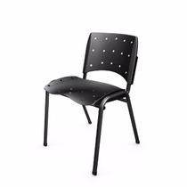 Cadeira Secretaria Fixa Ergoplax Preto Plaxmetal