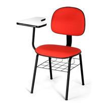 Cadeira Fixa 04 Pés Com Prancheta Universitária Sem Cesto