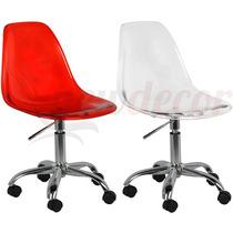 Cadeira New Office Em Policarbonato - Escritorio/recepção