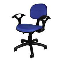 Cadeira Secretária Giratória Com Braço Ultra (azul)