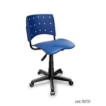Cadeira Giratoria Plástica Secretaria Ergoplax