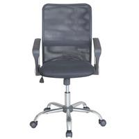 Cadeira Escriório Diretor Mesh Tela Cromo Top