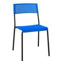 Cadeira Fixa 4 Pés Com Assento E Encosto Em Plástico.