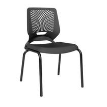 Cadeira Secretaria Fixa Beezi Preto Plaxmetal