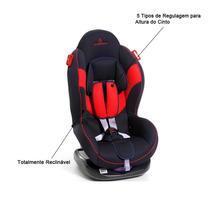 Cadeirinha Retenção Auto Carro Must Azul Vermelho Bebe