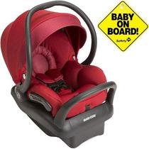 Bebê Conforto Maxi Cosi Mico Max 30 Vermelho Com Base Preta