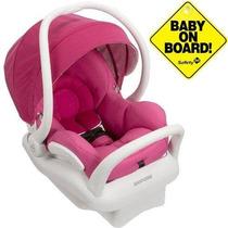 Bebê Conforto Maxi Cosi Mico Max 30 Rosa Com Base Branca