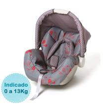 Bebê Conforto Piccolina - Cinza E Vermelho Off Galzerano