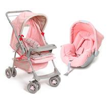Carrinho De Bebê Milano Reversível E Bebê Conforto Picc