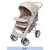 Carrinho Bebê Reversível Galzerano Optimus Bege Lancamento