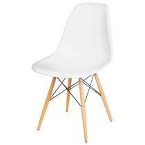Cadeira Charles Eames Decorativa Pé Madeira Branca Ou Preta