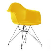 Cadeira Dkr Charles Eamens Com Braço Base Cromada