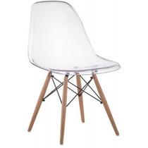 Cadeira Dkr Wood Acrílico - Cristal (transparente)