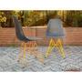 Cadeira Dsr Eames Pp Preta Base Laranja Epoxi Cozinha