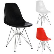 Cadeira Eiffel Charles Eames Acrílica Pc Sólido 12x Sem Juro