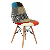 Cadeira Charles Eames Eiffel Sem Braços Patchwork