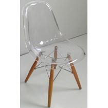 Cadeira Dkr Wood - Acrílica Cristal (transparente)