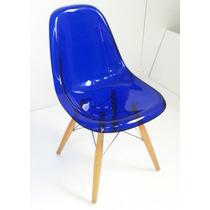 Cadeira Charles Eames Wood Dkr Acrílico E Madeira