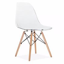 Cadeira Charles Eames Em Policarbonato Transparente