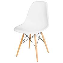 Cadeira Charles Eames Decorativa Pé Madeira Amarela Colorida