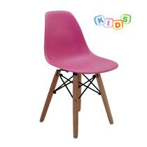 Cadeira Dkr Kids Em Abs E Base Em Madeira