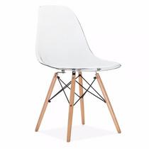 Cadeira Eiffel Dkr Wood Pc - Defeito - Transparente