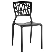 Cadeira Melissa Preta. Polipropileno Com Fibra De Vidro