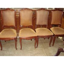 Cadeiras Antiga De Madeira Estofadas
