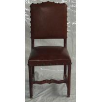 Cadeira Colonial Em Cerejeira Estofada Em Couro